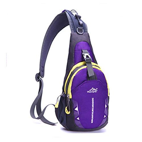 (SAMI STUDIO Shoulder Backpack,Portable Multi-Functional Waterproof Unisex Outdoor Sports Chest Pack Bum Bag Sling Bag Hiking Daypacks Adjustable Strap Shoulder Backpack Cross Body Bag KNSB0113)