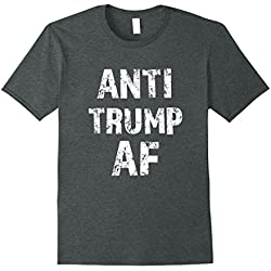 Mens Anti Trump AF funny Impeach Him President T-shirt XL Dark Heather