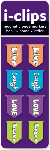 Live, Love, Laugh, Learn i-Clips (Magnetic Bookmarks) (Live Laugh Love Learn)