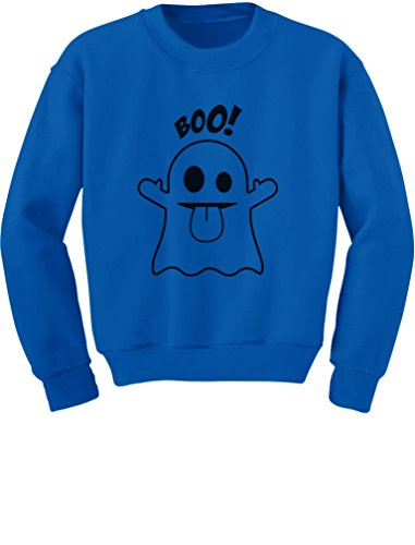 [TeeStars - Baby Boo Ghost Costume Cute Easy Halloween Toddler/Kids Sweatshirts 2T Blue] (Boo Costume Toddler)