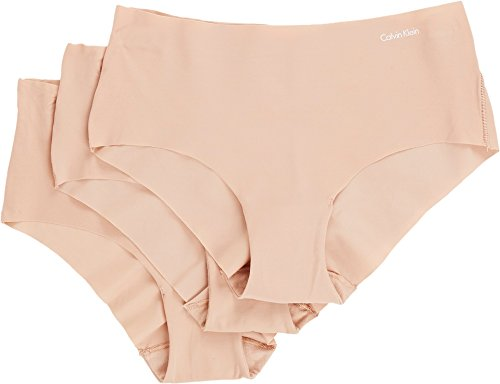 Laser Underwear Hipster Cut (Calvin Klein Women's 3 Invisibles Hipster Panty, Light Caramel, Light Caramel, Light Caramel, L)