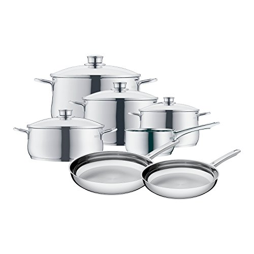 Cheap WMF 8400001725 11 Piece Stainless Steel Cookware Set, Silver