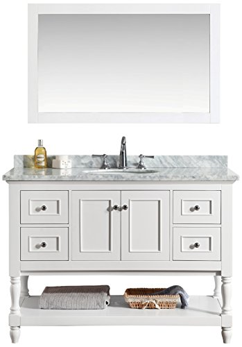 Ari Kitchen and Bath Akb-Cape-48-WH Cape Cod Vanity Set with Mirror, 48'', White by Ari Kitchen and Bath
