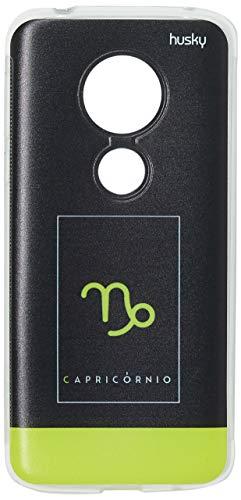 Capa Personalizada para Moto G6 Play - Signos Capricórnio, Husky, Proteção Completa (Carcaça+Tela), Colorido