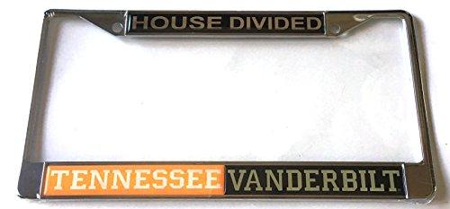 Tennessee Volunteers - Vanderbilt Commodores - UT - Vandy House Divided Car Tag License Plate ()