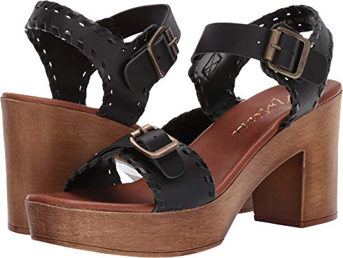 Matisse Women's Twiggy Wooden Heeled Sandal Black 7 M US