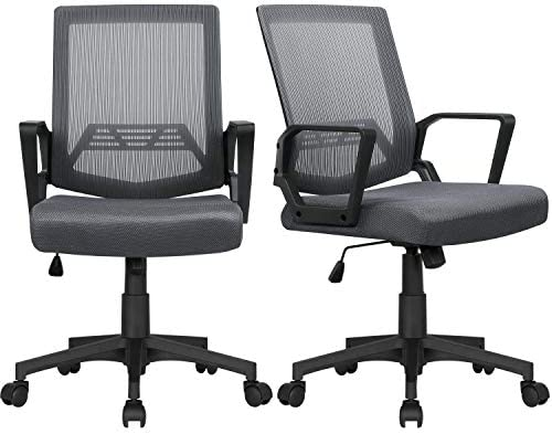 YAHEETECH 2Pcs Mid Back Mesh Desk Chair