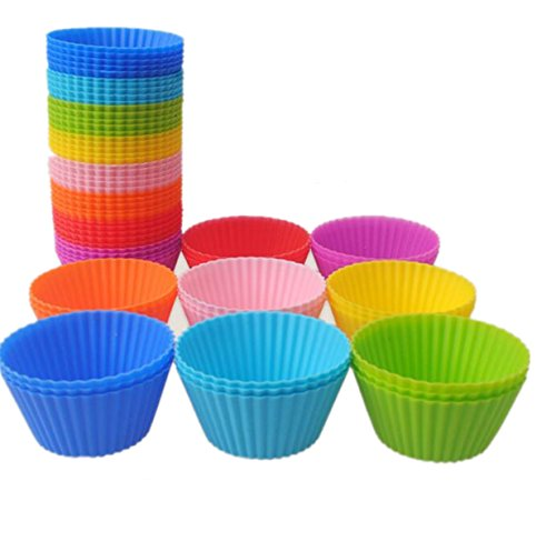 16-Pack Reusable Silicone Baking Cups Cake Molds (16)