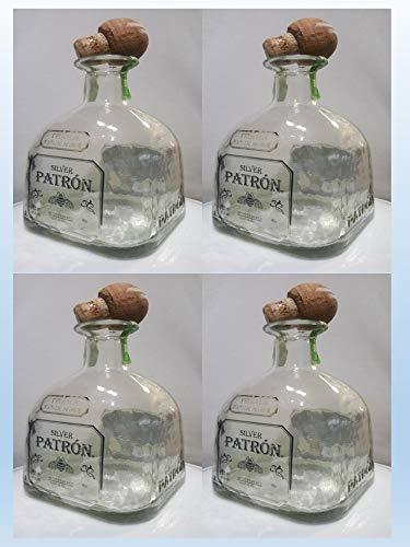 Patron 750ml Tequila Silver Empty Bottle 4 Pack