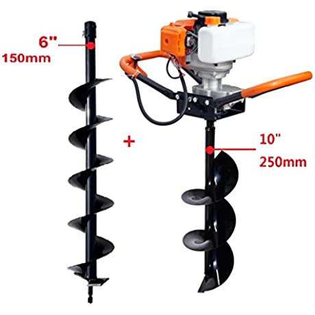 ECO WORTHY Gas Powered Post Hole Digger With 6 10 Earth Auger 6 10 Auger Bits
