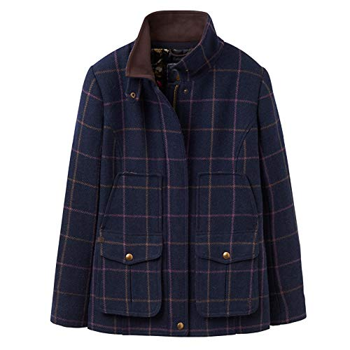 (Joules Fieldcoat Womens Tweed Jackets 12 Reg Navy Tweed)