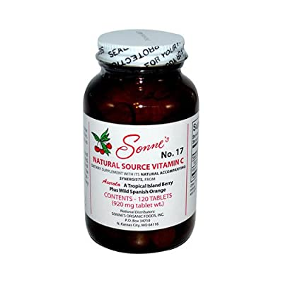 Sonne's Natural Source Vitamin C No 17 Tablets, 120 Count