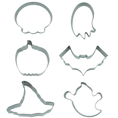 Halloween Cookie Cutter Set, 6 PCS, Pumpkin/Bat/ Ghost/Witch