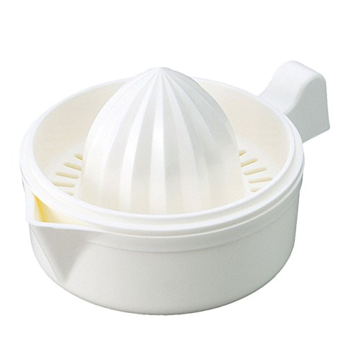 Arbor Home Japanese Hand Juicer Plastic Lemon Lime Oranges Squeezer With Bowl White Color