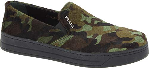 Prada Women's Camouflage Color Pony Leather Slip-ons Shoes - Size: 7 -