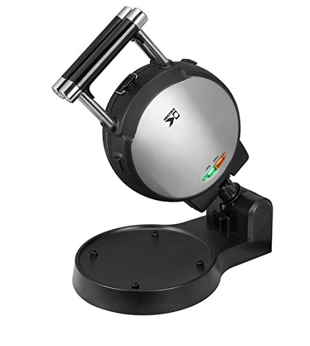 Stainless Steel Belgian Waffle Maker with Detachable Plates,