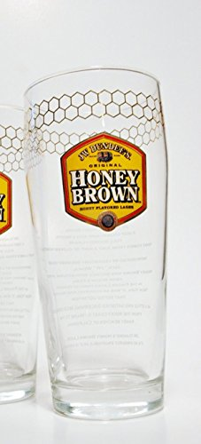 J.W Dundee's Honey Brown Signature Beer Glass - 1 Pint (Dundee Honey Brown)