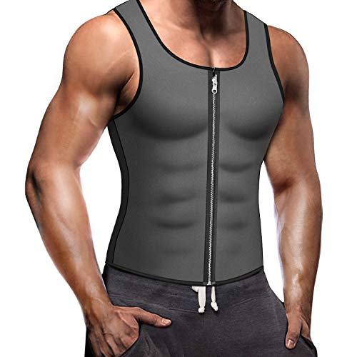 755a3c715 Sauna Vest Men Sweat Vest Slimming Body Shaper Waist Trainer Weight Loss