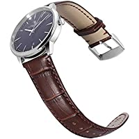 Calfskin Watch Band Genuine Calf Leather Replacement 18mm 20mm 22mm 24mm Strap Wrist Watchband Pin Buckle Clasp for Women Men