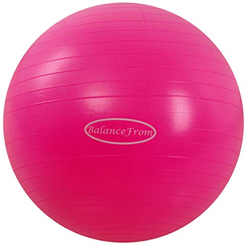 BalanceFrom Anti-Burst and Slip Resistant Exercise Ball Yoga Ball Fitness Ball Birthing Ball with Quick Pump