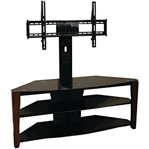 techcraft flex42w 44 inch 3 in 1 tv stand with removable mount and media storage. Black Bedroom Furniture Sets. Home Design Ideas