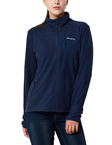 Baleaf Women's Full Zip Mid-Weight Fleece Jacket Pullover Navy Size M (Zip Full Fit Jacket)
