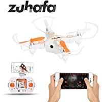 Zuhafa Z2HC Mini Foldable RC Drone Wifi FPV VR Remote Control Drone RC Quadcopter Helicopter with 720P HD Camera White