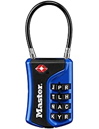 4697DWD Set Your Own Word Combination TSA Approved Luggage Lock, 1 Pack, Assorted Colors