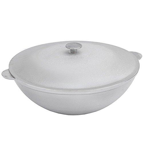 Aluminum Wok Kazan for Making Pilaf/Plov Dutch Oven with Dual Handles Large Cooking Pot (4.2-qt. (4 - Aluminum Wok
