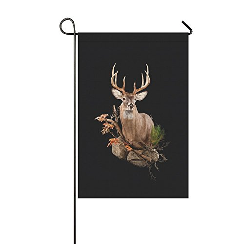 Small Mim Custom Taxidermy Deer Shoulder Garden Flag Holiday Decoration Double Sided Flag 12.5