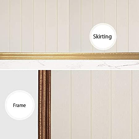 TINTON LIFE 3D Waterproof Wallpaper Border Peel and Stick Wall Border Foam Mirror Borders Removable Self Adhesive Tiles Stickers for Kitchen Bathroom 3.1x90 White Oak