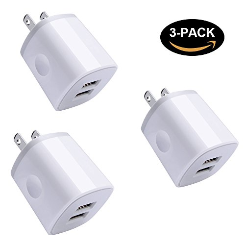 Wall Charger Block for Sony, Amtobo 2.1Amp/5V Dual Port Power Adapter Charge Fast Charging Outlet Plug USB for iPhone X/8/7/6S/6/SE/5S, Samsung Galaxy S9/S8/S8 Plus/Note 8, iPod, iPad and Android by Amtobo