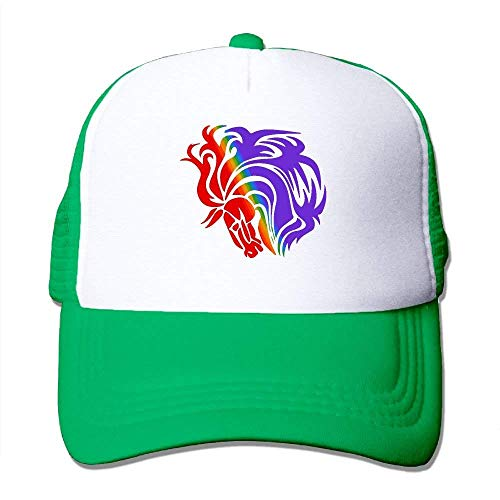 Rainbow NDJHEH Mesh Gorras Tone Hat Adjustable béisbol Head Two Horse Trucker Hat 1 rHaqBxpYHw