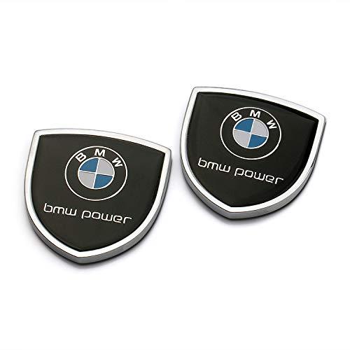 Zhmyyxgs 2 Pcs Shield Refit Logo Auto Car Rear Side Fender Stickers Metal Decorative Logo Emblems Badge Logo Accessories for BMW