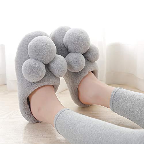 YMFIE Ciabatte calde pantofole comode e casa e in morbide imbottiture invernali da morbide spessa antiscivolo cotone E rrX0dq