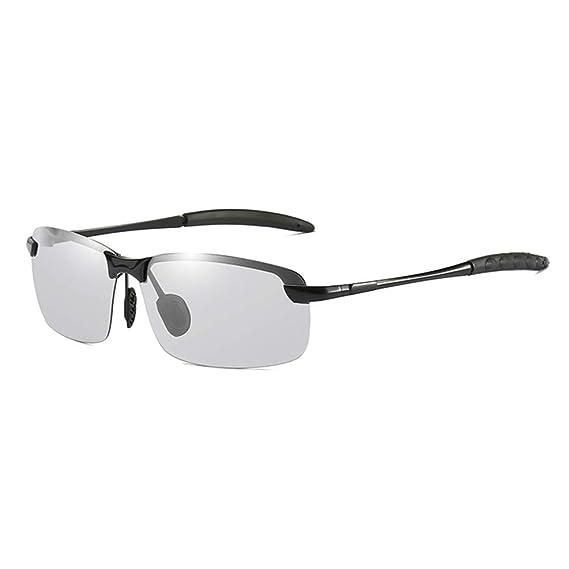 b894aea554623f DEFJQQPL Lunettes de soleil homme Smart Color Sunglasses Men Driving Travel  Sports Chameleon Photochromic Polarized Sunglasses  Amazon.fr  Vêtements et  ...