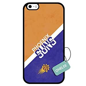 (TCustomized NBA Phoenix Suns Team Logo Design PC Case For Iphone 4/4S Cover Case CovBlack 01