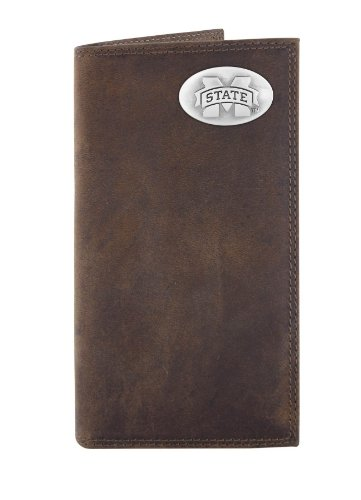 Mississippi State Bulldogs Wallet - NCAA Mississippi State Bulldogs Zep-Pro  Crazyhorse Leather Roper Concho Wallet, Light Brown