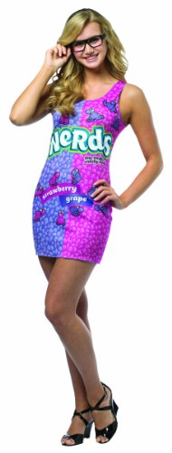Rasta Imposta Nerds Tank Dress, Pink/Purple, (Costume Candy)