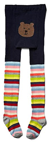 Baby Gap Toddler Girls Crazy Stripe Bear Sweater Tights 2-3 Years (Crazy Stripe Tights)