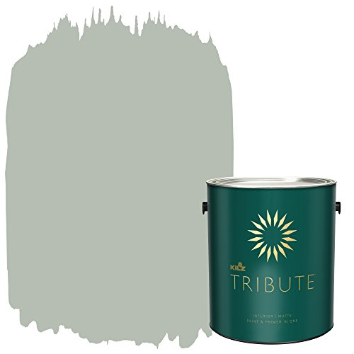 KILZ TRIBUTE Interior Matte Paint and Primer in One, 1 Gallon, Patio Gray (TB-64) (Paint Patio)