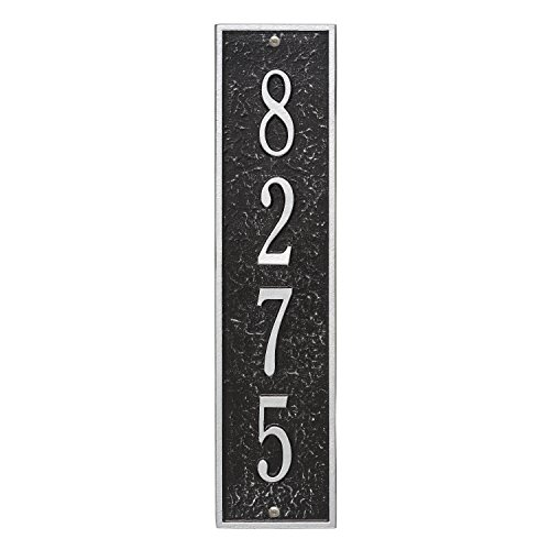 Whitehall Custom 1 Line Delaware Vertical Address Plaque 17.25