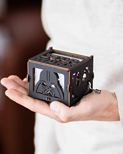 Musical Box Star Wars Wind Up Gift Acrylic Anniversary Gift for Husband May the force be with you Music Box Main Theme Gift for Friend Dad Boyfriend]()