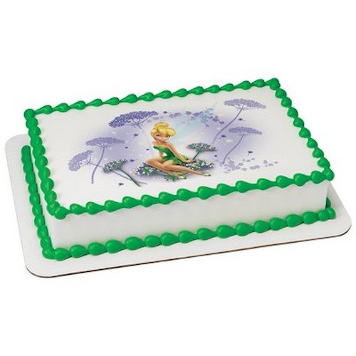 Whimsical Practicality Tinker Bell Edible Icing Image I Believe in Fairies for 1/4 Sheet Cake