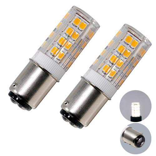 LED BA15D Corn Bulb, Ba15d Double Contact Bayonet Base, 5w 50W Equivalent 120 Volts, Dimmable 500lumens(2 Pack)