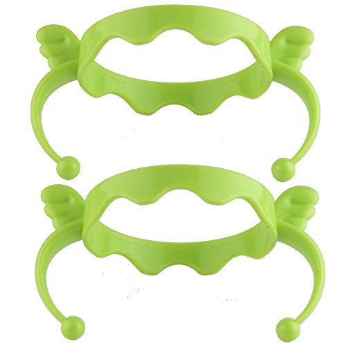 Feeding Bottle Handles Grip Compatible for Comotomo Baby Bottles, Pack of 2 (Green Wing)