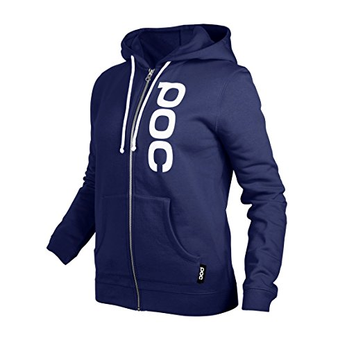 POC Helmets and Armor Women's Wo Zip Hoodie, Dubnium Blue, Small