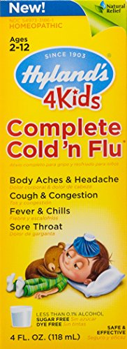 Hyland's 4 Kids Complete Cold 'n Flu, Natural Relief of Cold and Flu Symptoms, 4 Ounce