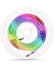 Domary Luz de tira de estojo de computador LED flexível Fita de lâmpada RGB Diodo 5V Tela de mesa TV Iluminação de fundo USB Powered 3 Key Control 1M