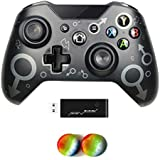 Wireless Controller for Xbox One, No Headset Jack, 2.4GHZ Game Controller Gamepad Compatible with Xbox One S/X PC (Black)